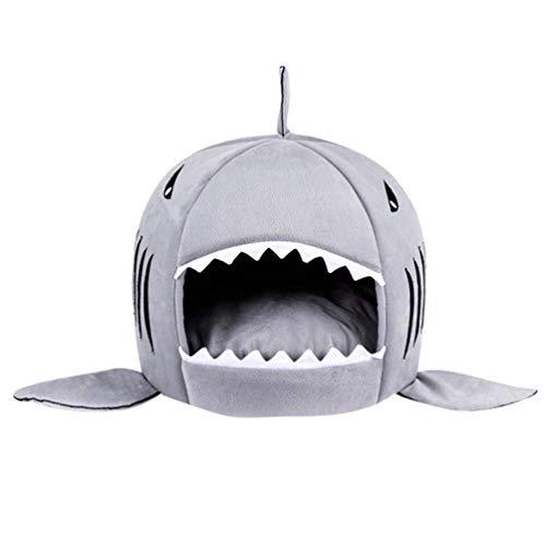 JEELINBORE Práctica Casa de Mascotas Ronda Tiburón Cama para...