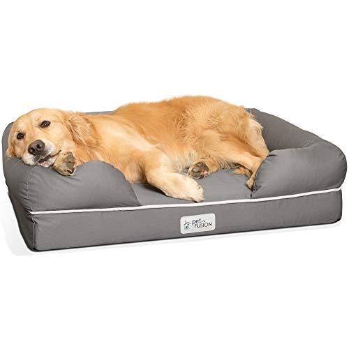 Cama de espuma viscoelástica para perros medianos y grandes,...