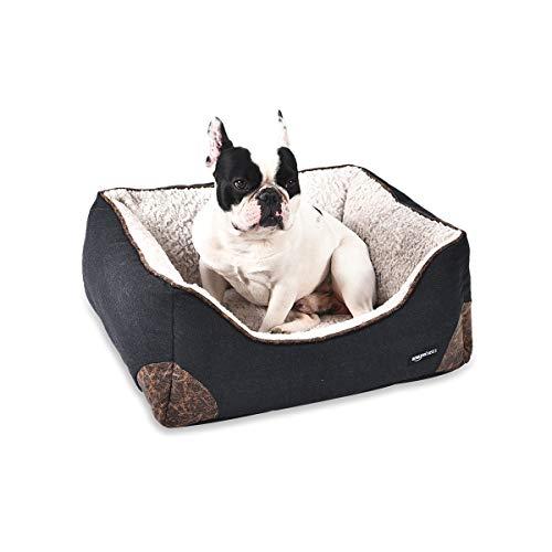 Amazon Basics Cama para mascotas, de tamaño pequeño, negro