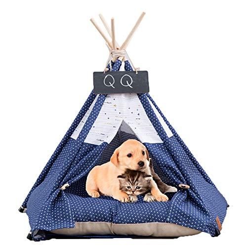 Arkmiido Tienda para Mascotas con Cama, Casa de Lona para Perros...