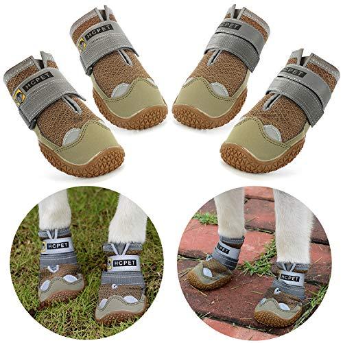 Нсрet Zapatos Perro, 4 Pcs Respirable Zapatos Antideslizantes...