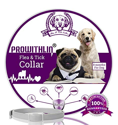 prowithlin Collar Antiparasitario para Perros contra Pulgas,...
