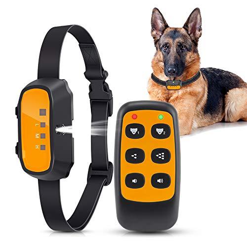 Queenmew Collar de Adiestramiento para Perros Antiladridos con...