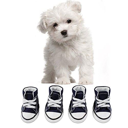 KEESIN Zapatos de Lona Antideslizantes para Perros Cachorros,...