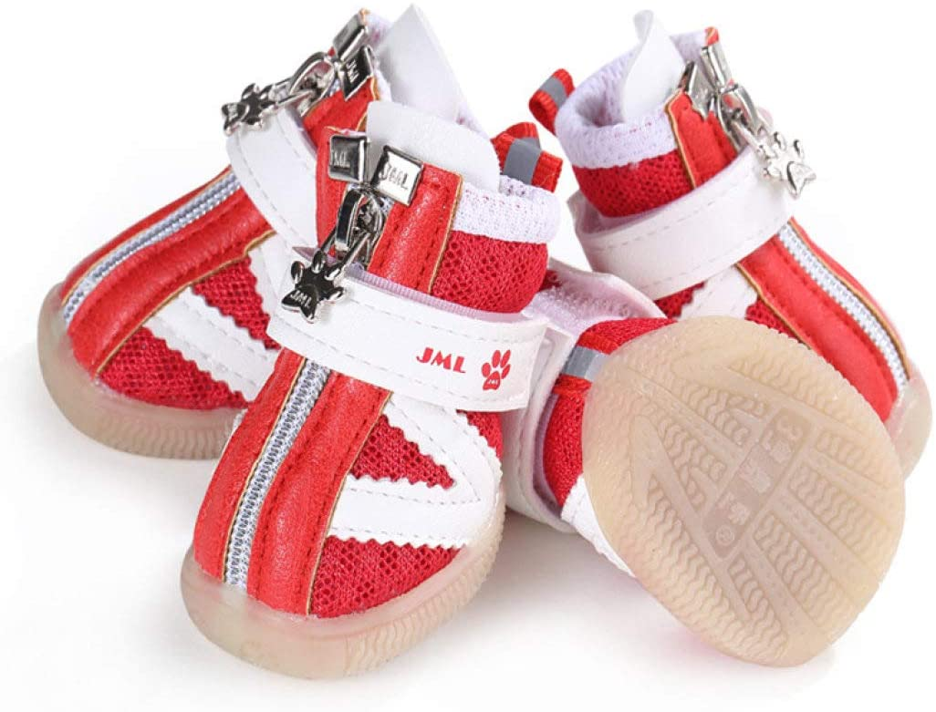 AMURAO Zapatos de Verano para Perros pequeños Sandalias de Malla Transpirable para Cachorros