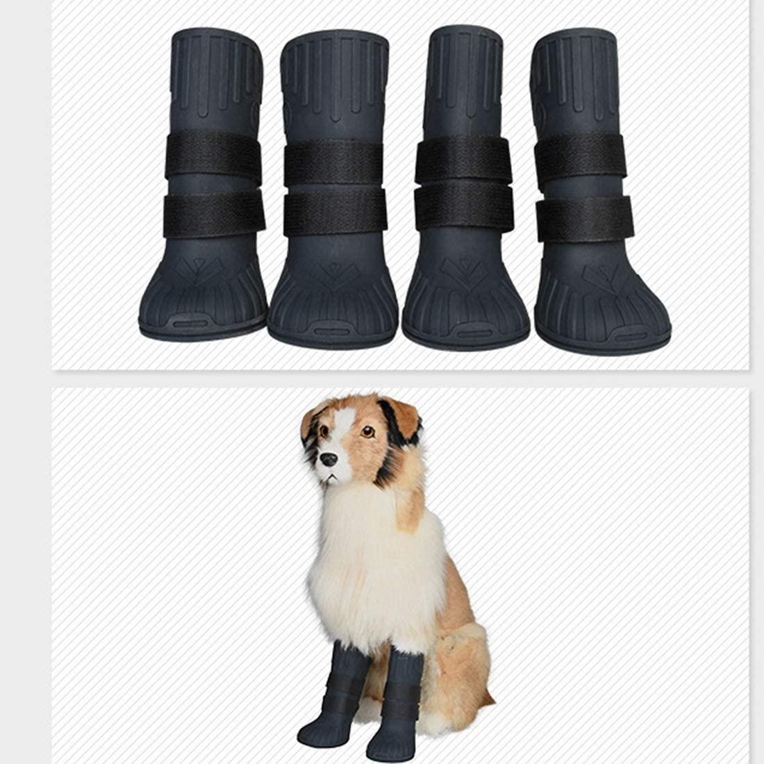 Botas de Lluvia para Mascotas Botas de Silicona Botas Grandes para Perros
