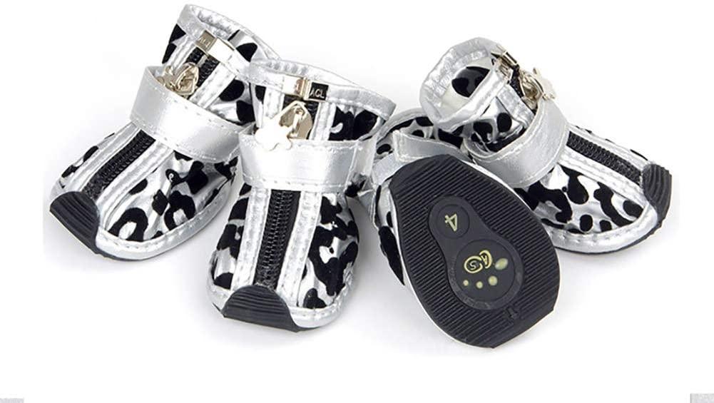 Zapatos de Perro Oro Plata
