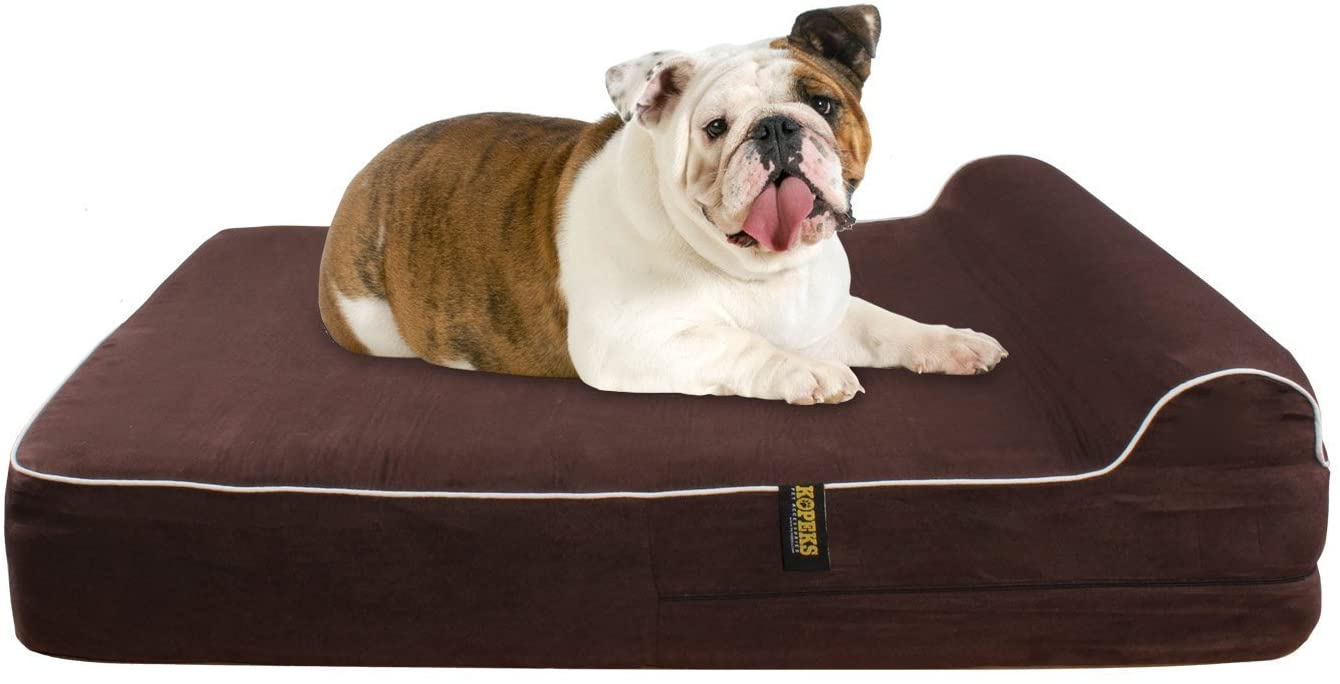Cama Grande para Perros Mascotas Grandes con Memoria Viscoelástica Ortopédico KOPEKS