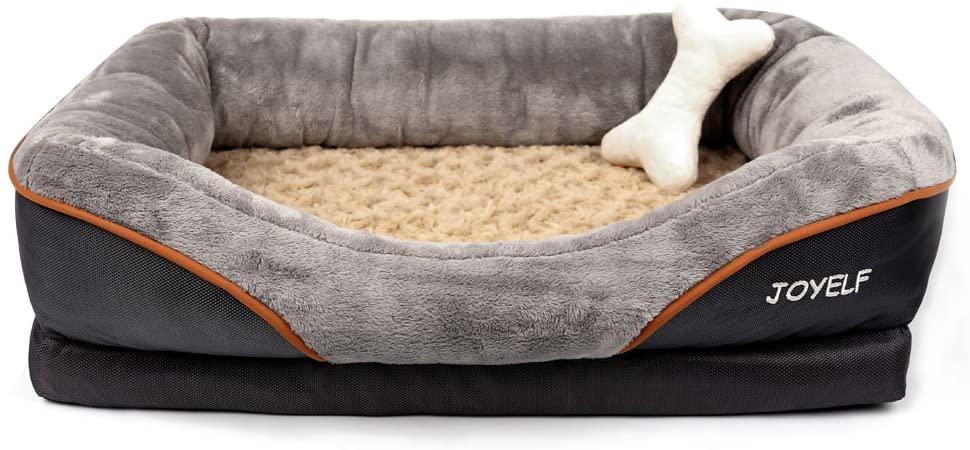 Cama sofá ortopédica para perro de espuma viscoelástica