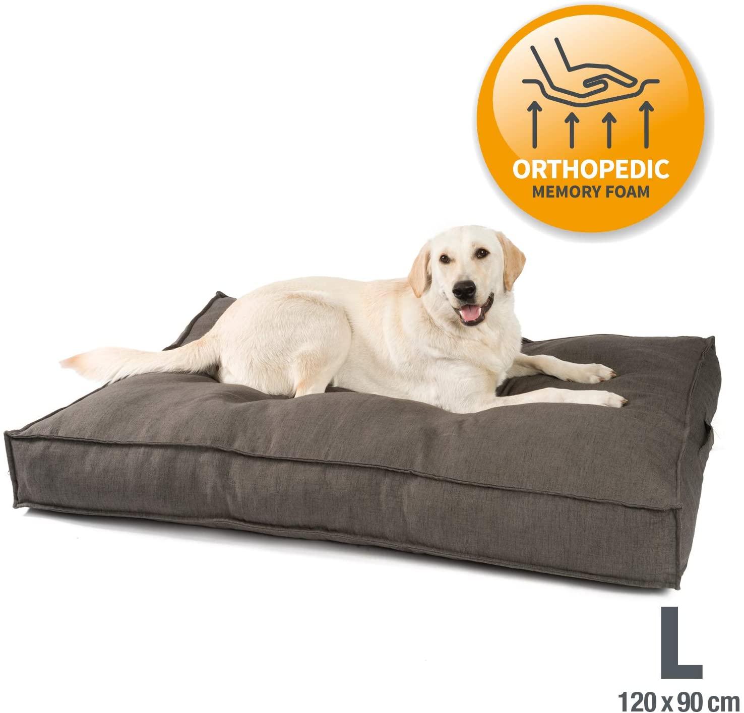 Cojín para perros ortopédica con espuma viscoelástica