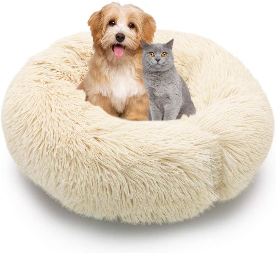 MMTX Cama Perros Redonda Cojín Gatos Sofá para Perros Donut