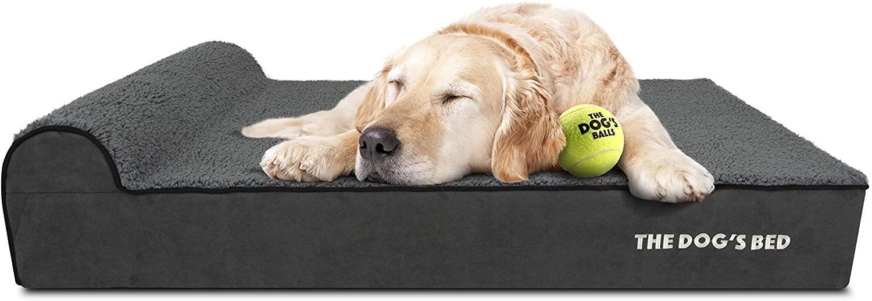 cama para perro de espuma viscoelástica impermeable premium